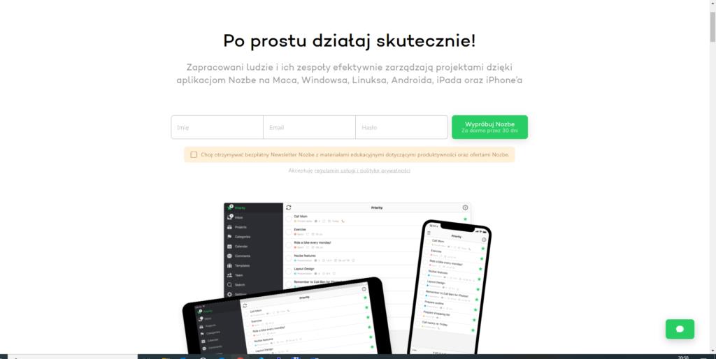 nozbe -narzędzia do zarządzania projektami - narudo.pl