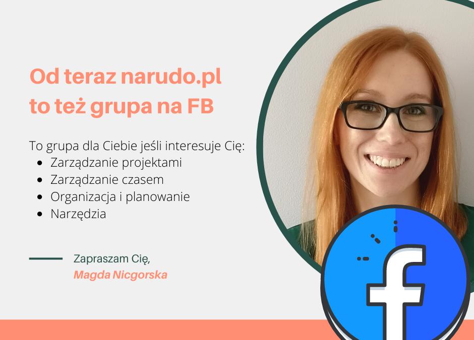 Dołącz do grupy na FB – zarządzanie z narudo.pl