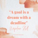 wyzwanie #planowanie2021 A goal is a dream with a deadline