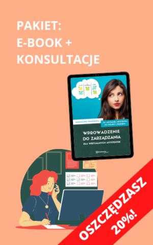"""Pakiet e-book + konsultacje """"Wprowadzenie do zarządzania dla wirtualnych asystentek"""""""